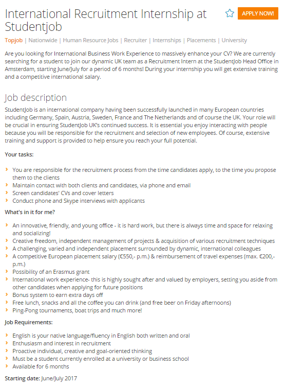 example-job-description Job Advert Examples Ks on